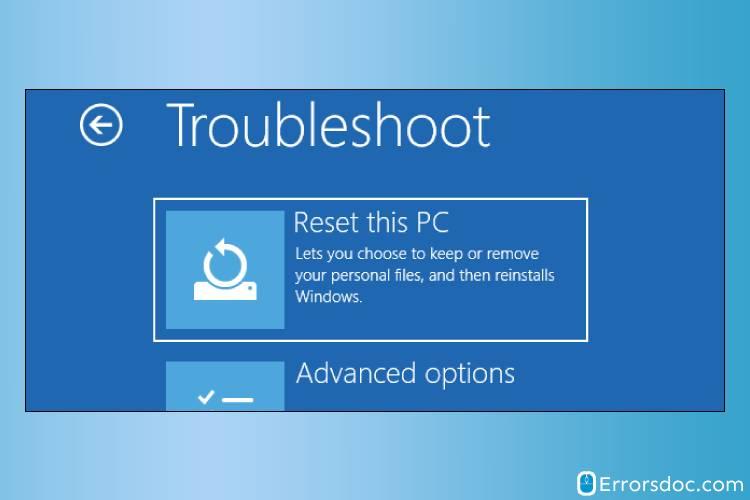factory reset hp laptop windows 10