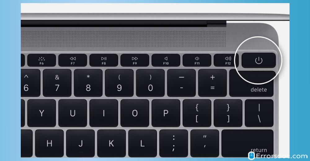 Power button - dell laptop black screen
