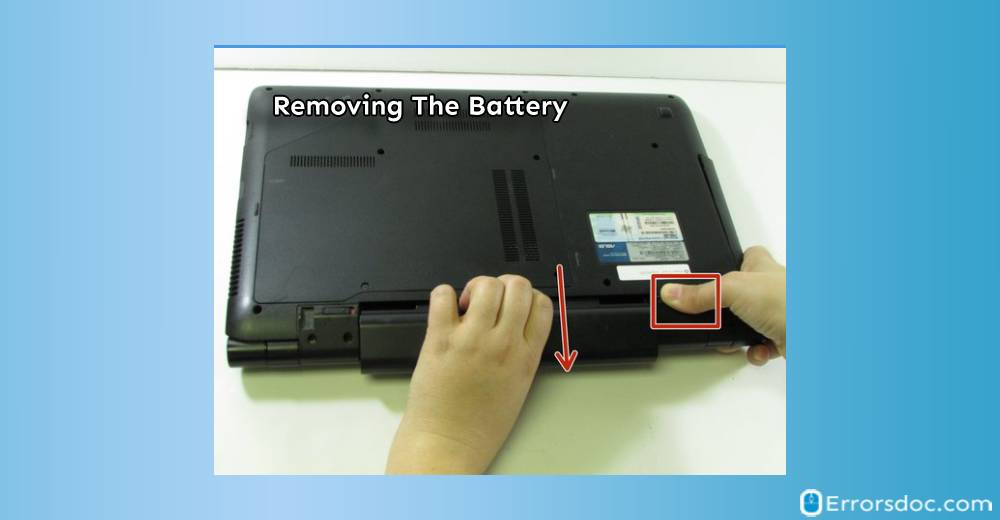 Remove The battery - asus laptop black screen