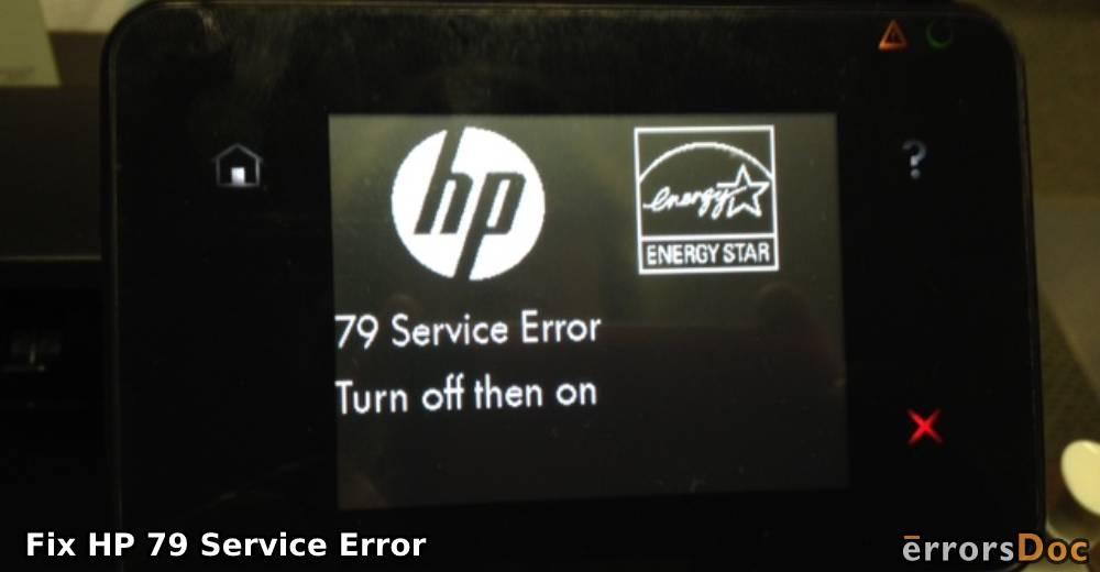 How to Fix HP 79 Service Error