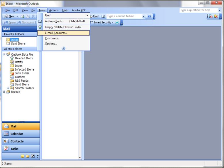 Tools -aol imap settings outlook 2003